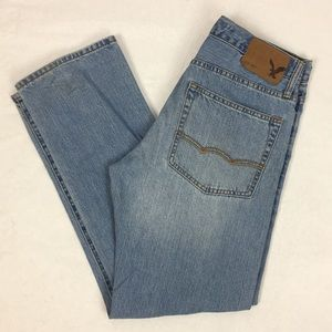American Eagle Relaxed Fit Denim Blue Jeans 29x30